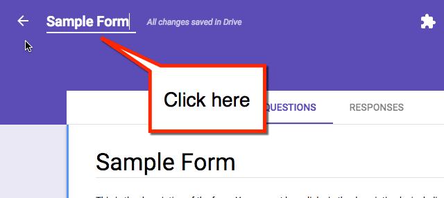 Title form