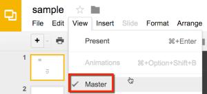 Google Slides edit slide master