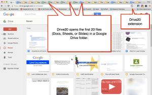 Drive20 Open 20 files in Google Drive