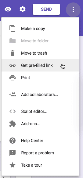 get pre-filled link google forms