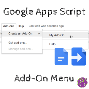 google apps script add-on menu template
