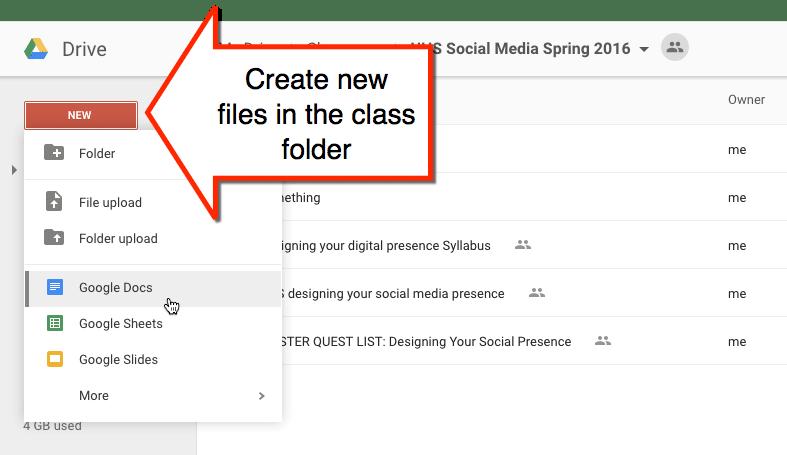 Google Drive folder add files