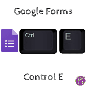 google forms control E