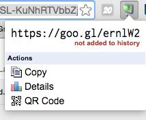 click on goo.gl Chrome extension