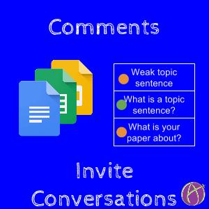 Comments invite Conversations