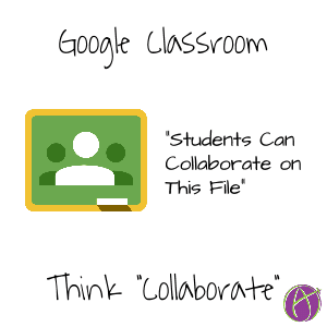 Students can collaborate on this file Google Classroom