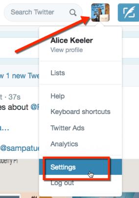 Twitter Settings Twitter Timeline