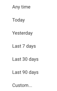 google drive filter by date