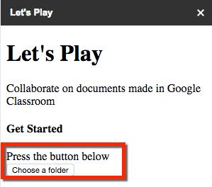 lets play choose a folder
