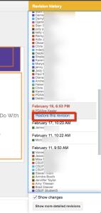 restore this version revision history google docs