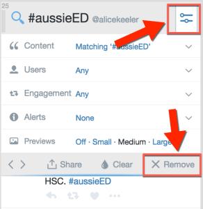 remove tweetdeck column