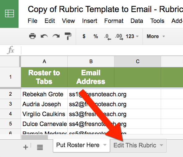 Edit the Rubric