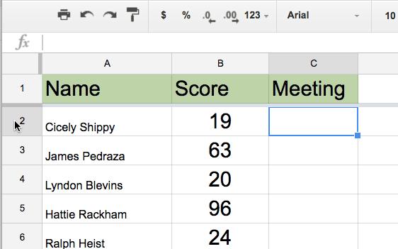 Low score