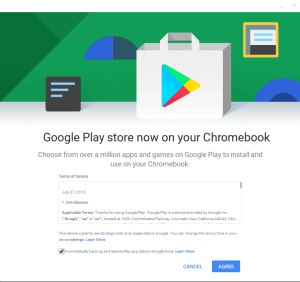 Google play store now on your chromebook