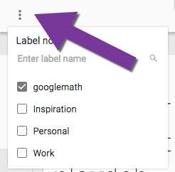 labels in google keep