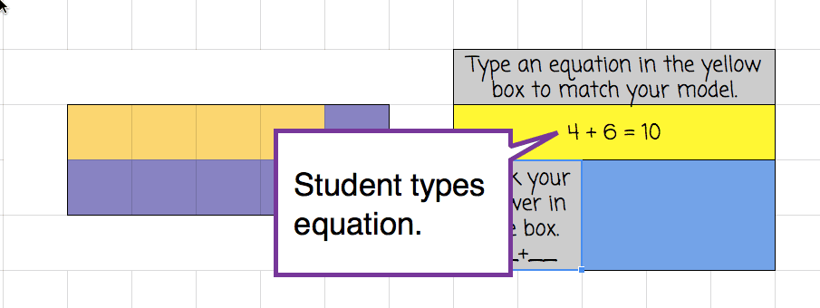 student types equation into spreadsheet cell