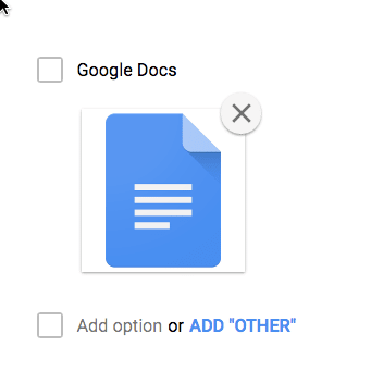 add an image to multiple choice no extra options
