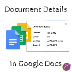 document details google docs