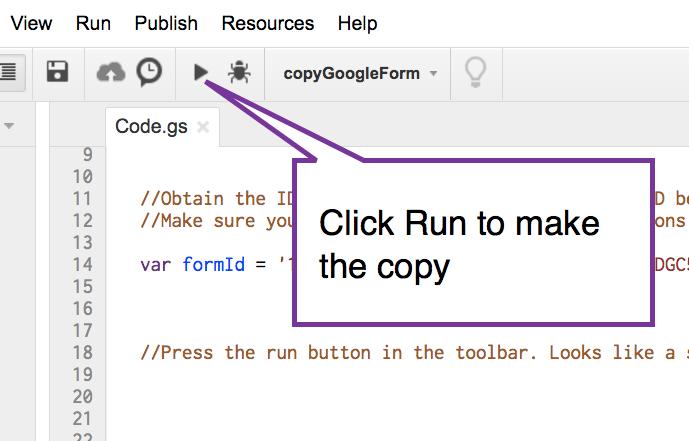 Click Run to make the copy