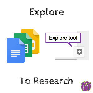 explore tool in google docs