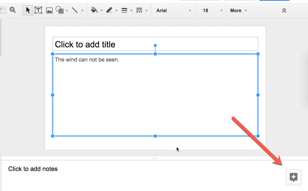 Explore tool in google slides