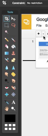 pixlr editor toolbar