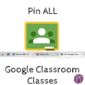 pin google classroom classes