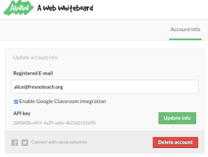 aww whiteboard enable google classroom