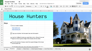 house hunters google sheets spreadsheet