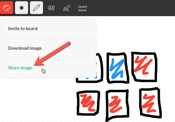 share image on aww whiteboard