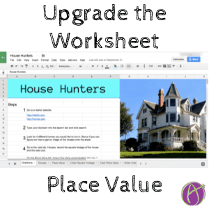 place value upgrade the worksheet