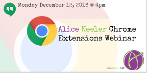 Chrome Extensions Webinar