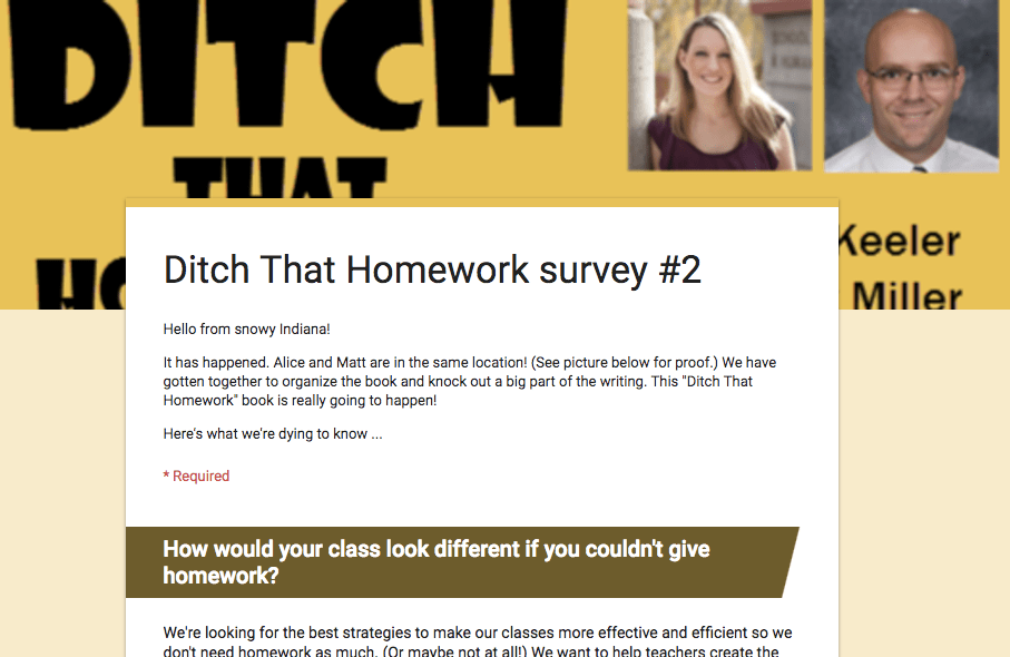 ditch that homework survey 2