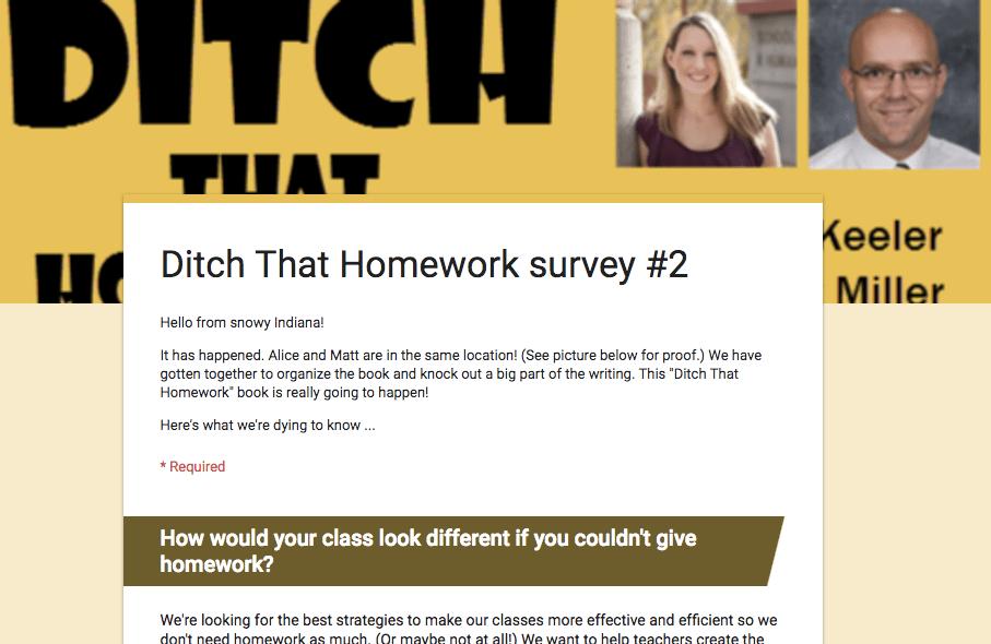 ditch that homework survey 2
