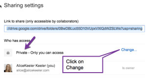 click on change