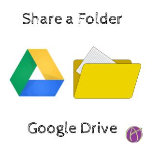 share a folder in google drive