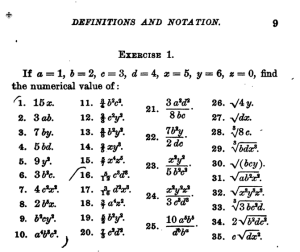 math Homework from 1898 1900