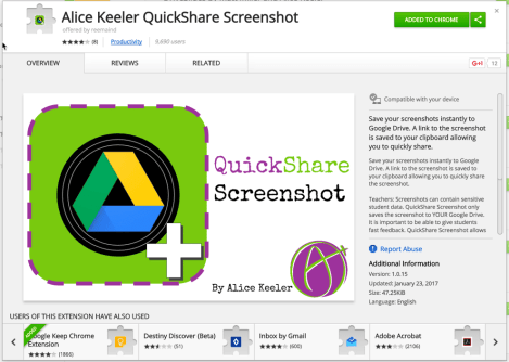 Quickshare screenshot