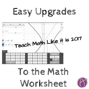 easy upgrades to the math worksheet