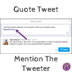 quote tweet mention the tweeter