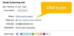 google hangout link