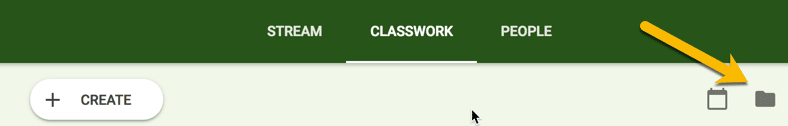Class folder on the Classwork page