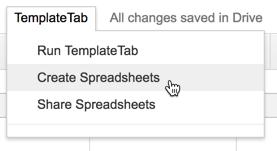Create Spreadsheets