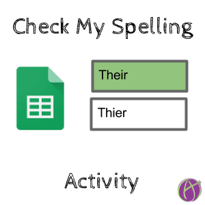 Check my spelling activity