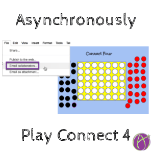 google drawing play connect 4 asynchronously teacher tech