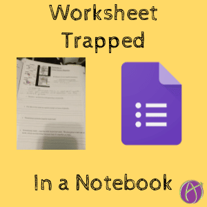 Worksheet Trapped in a Notebook (1)