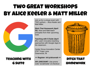 Alice Keeler and Matt Miller workshop in Indianapolis