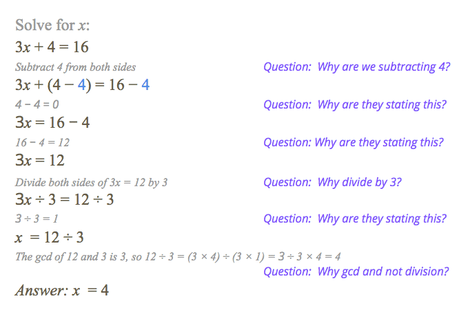 Solve for x from Wolfram Alpha