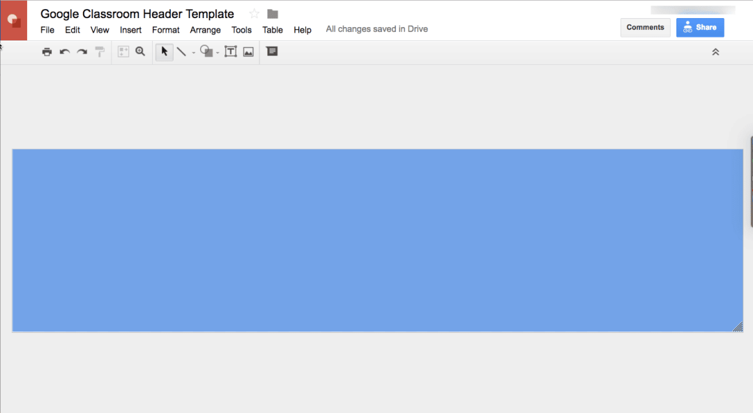 Google Drawing template