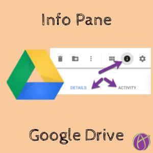Info pane in Google Drive